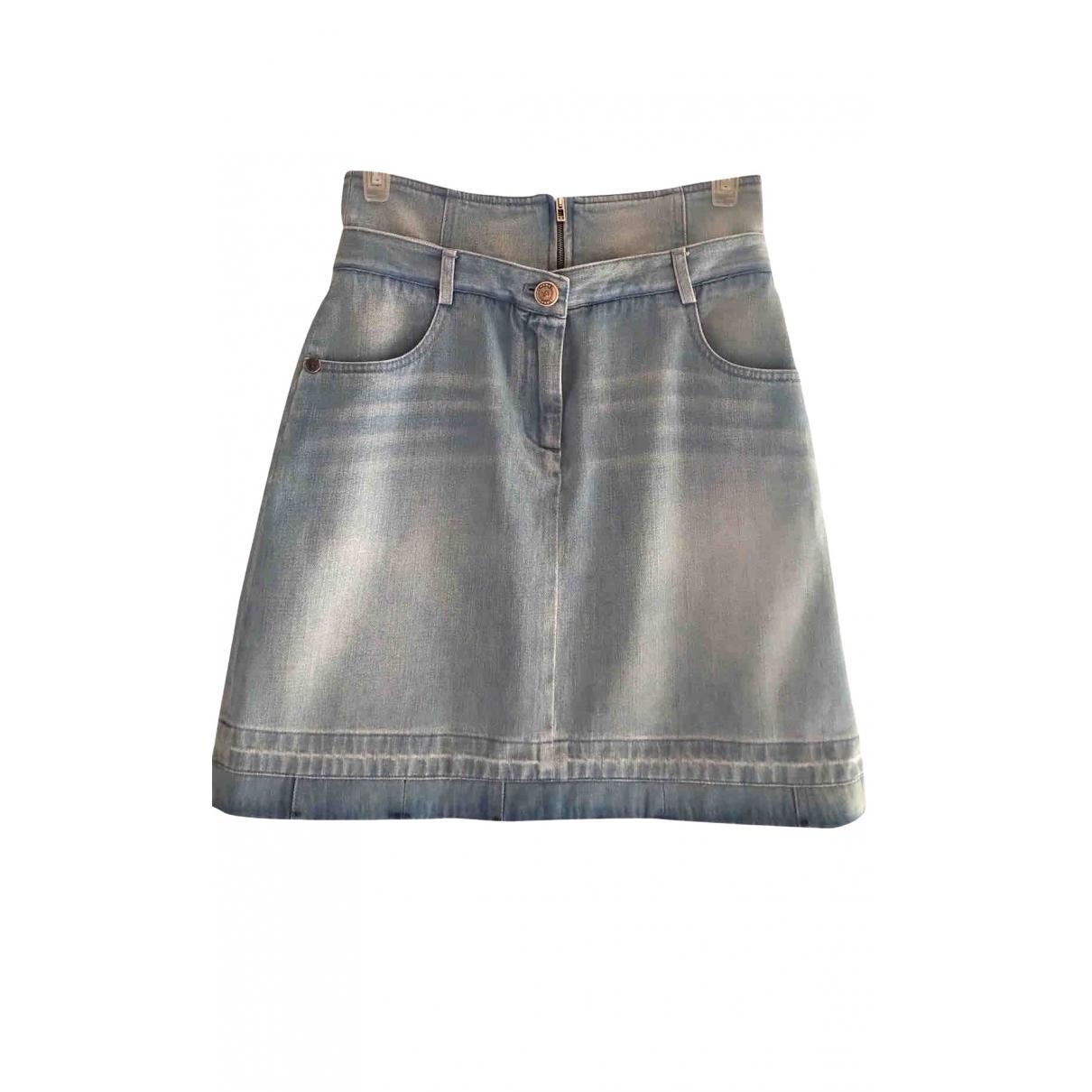 Chanel \N Blue Denim - Jeans skirt for Women 8 UK