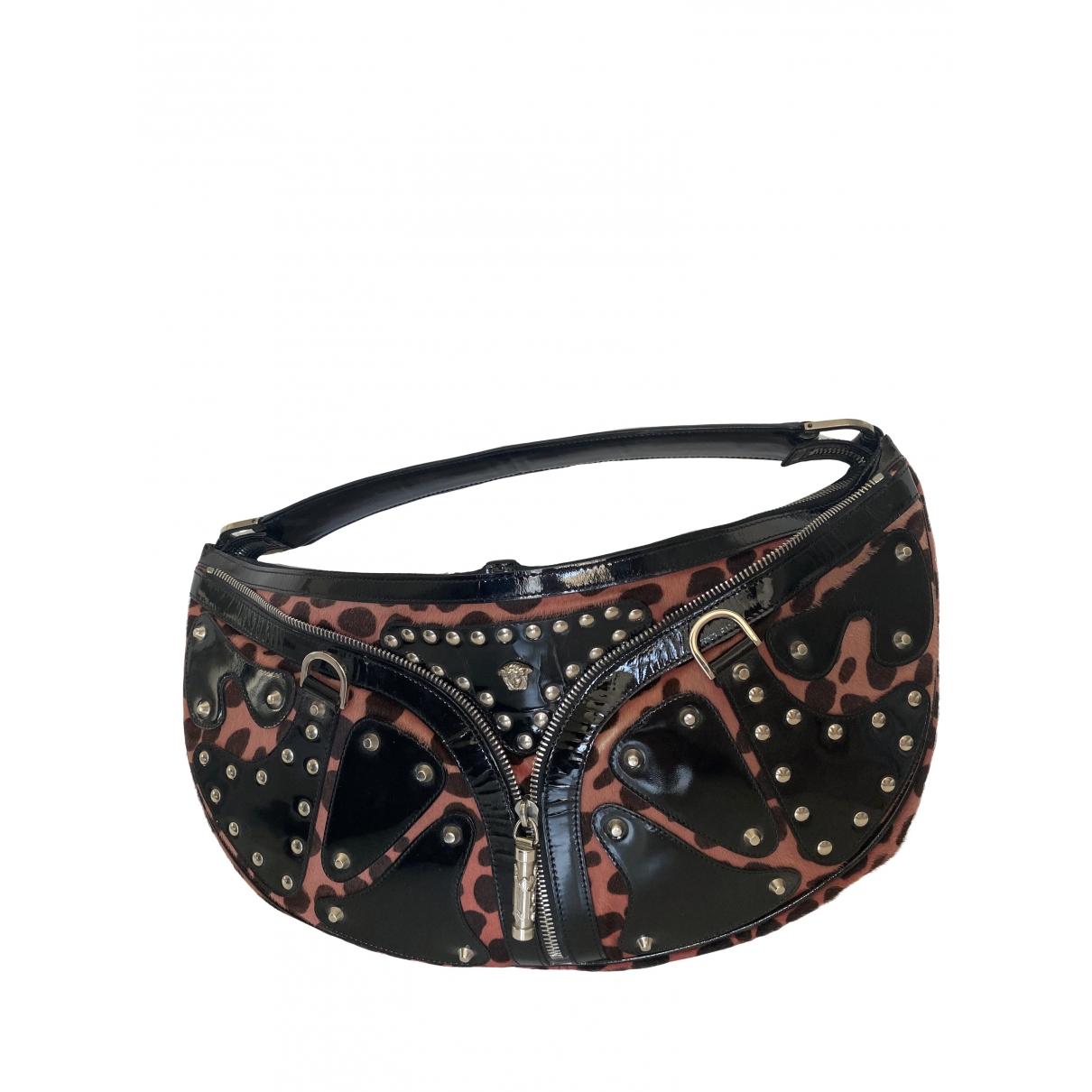 Versace \N Handtasche in  Rosa Kalbsleder in Pony-Optik