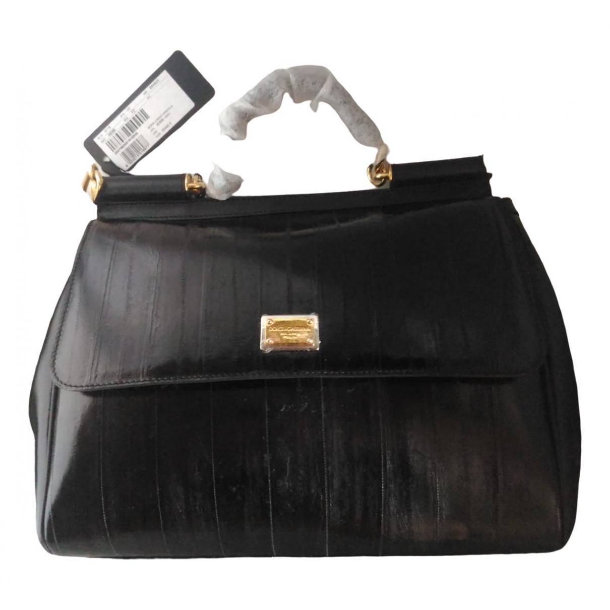 Dolce & Gabbana Sicily Handtasche in  Schwarz Aal