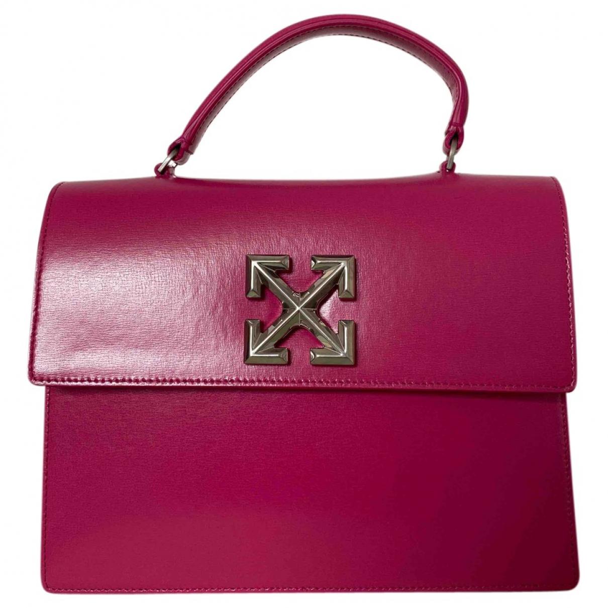Off-white \N Pink Leather handbag for Women \N