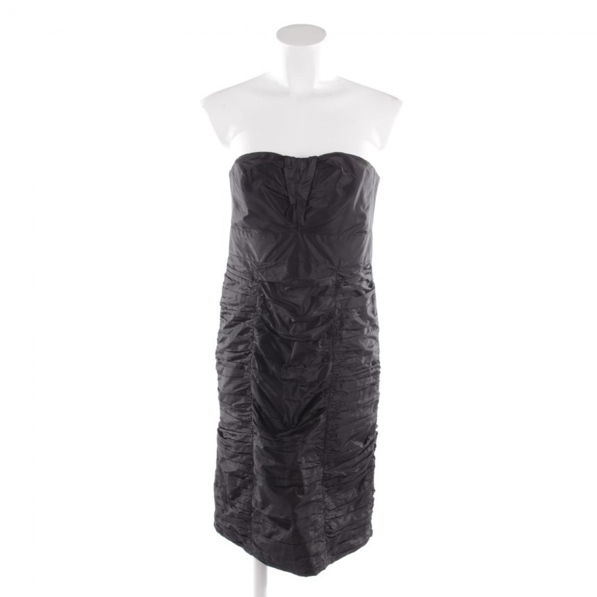 Chloe \N Kleid in  Schwarz Baumwolle