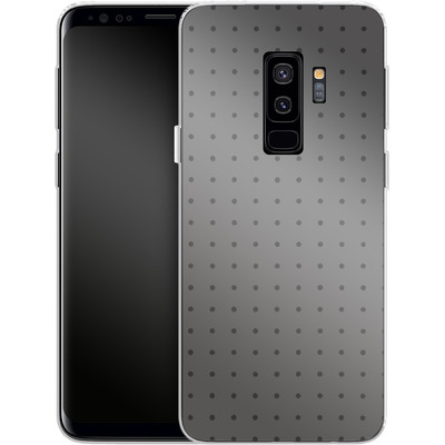 Samsung Galaxy S9 Plus Silikon Handyhuelle - Dot Grid Grey von caseable Designs