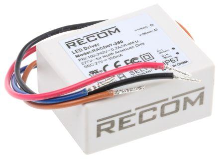 Recom RACD07 AC-DC Constant Current LED Driver 7W 10 → 20V dc