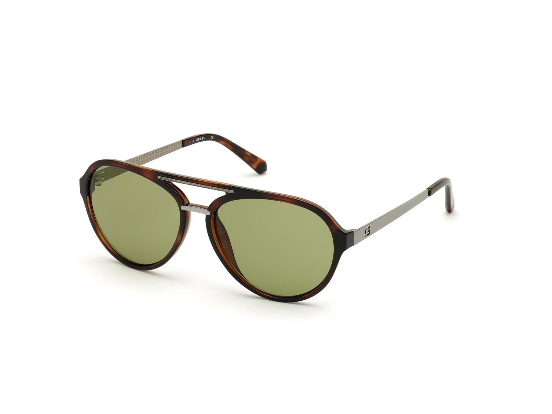 Guess Mens Gradient Gu6956 GU6956-52N-60 Brown Round Sunglasses