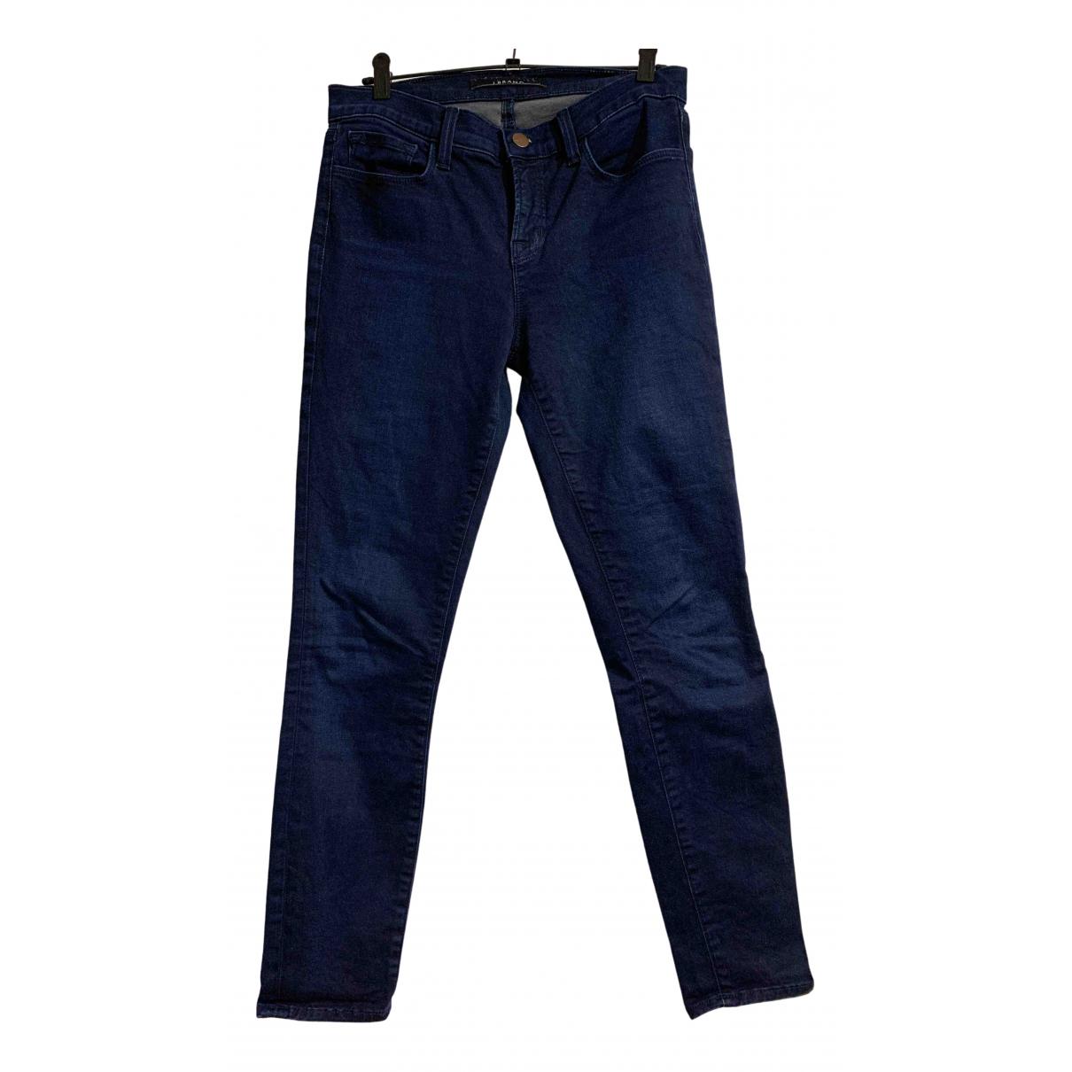 J Brand \N Blue Cotton Trousers for Women XS International