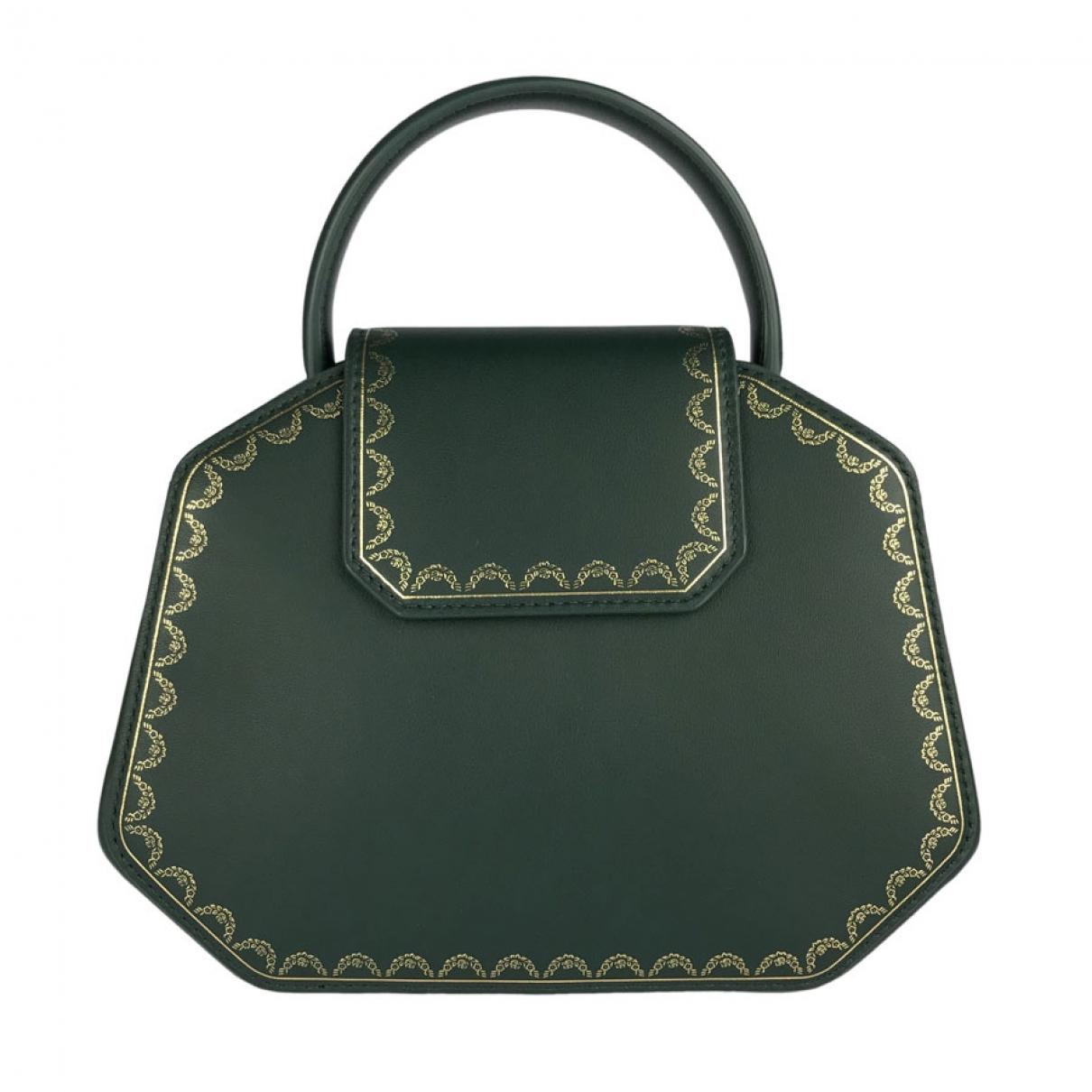 Cartier Guirlande Handtasche in  Gruen Leder