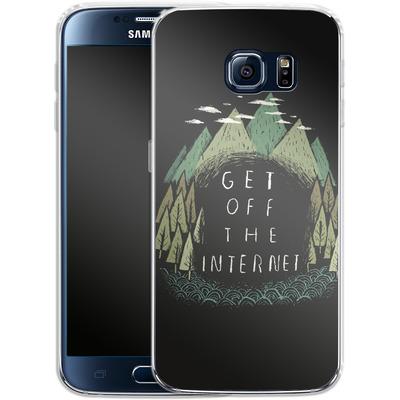 Samsung Galaxy S6 Silikon Handyhuelle - Get Off The Internet von Louis Ros