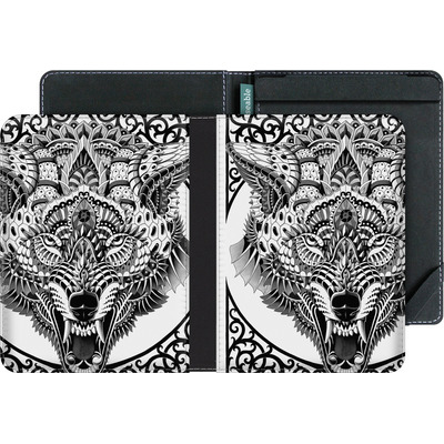 tolino vision 4 HD eBook Reader Huelle - Wolf Head von BIOWORKZ