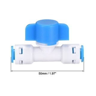 Ball Valve Quick Connect Fitting, 1/4