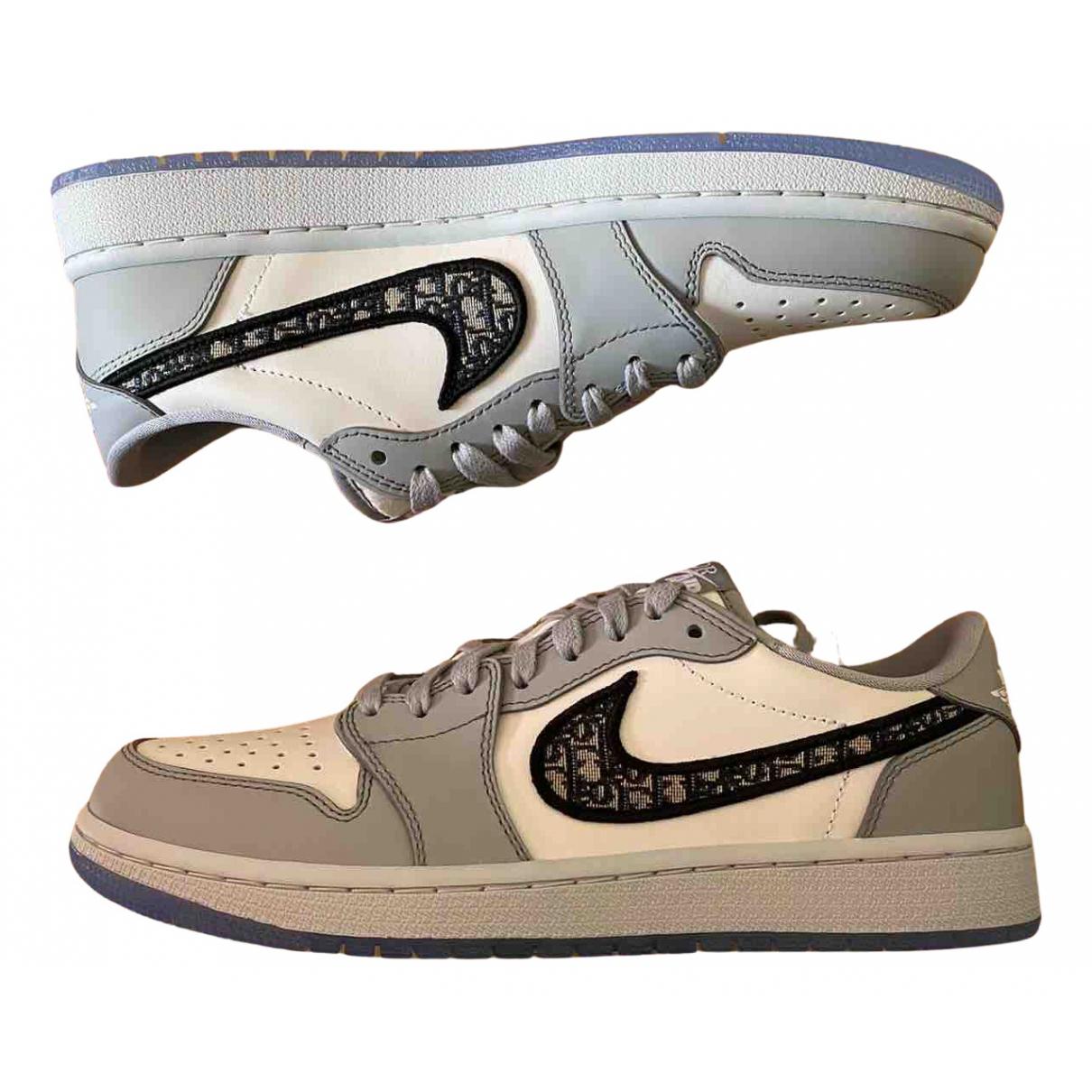 Jordan X Dior - Baskets   pour homme en cuir - gris
