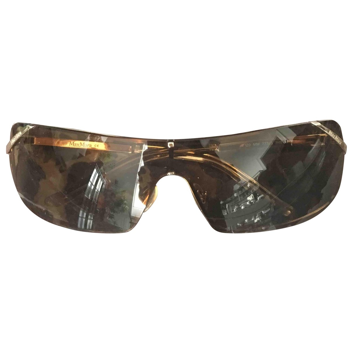 Max Mara \N Sonnenbrillen in  Braun Metall