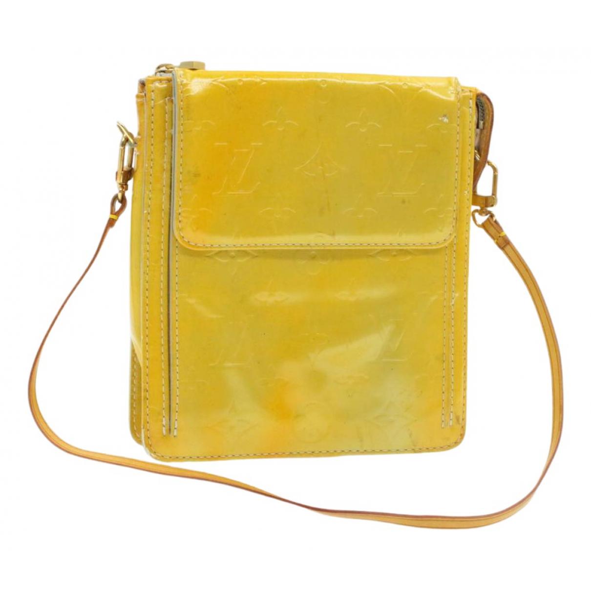 Louis Vuitton - Sac a main   pour femme en cuir verni - jaune