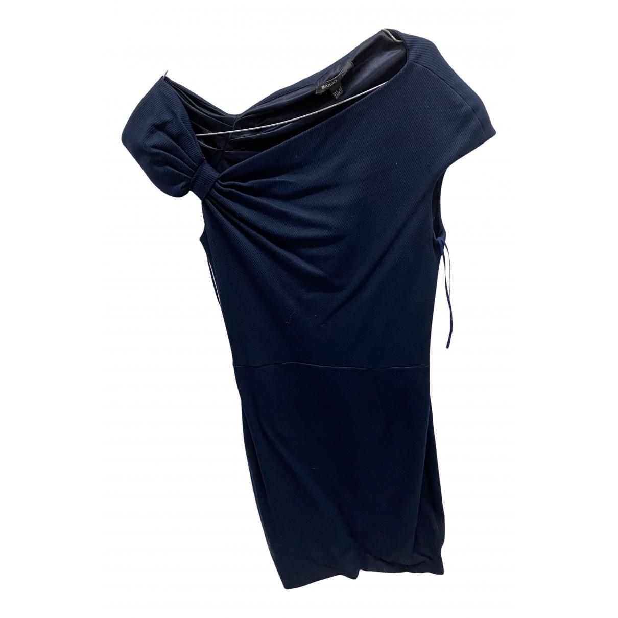 Mango \N Kleid in  Blau Polyester