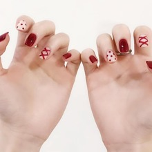 24pcs Fake Nail With Double-sided Tape