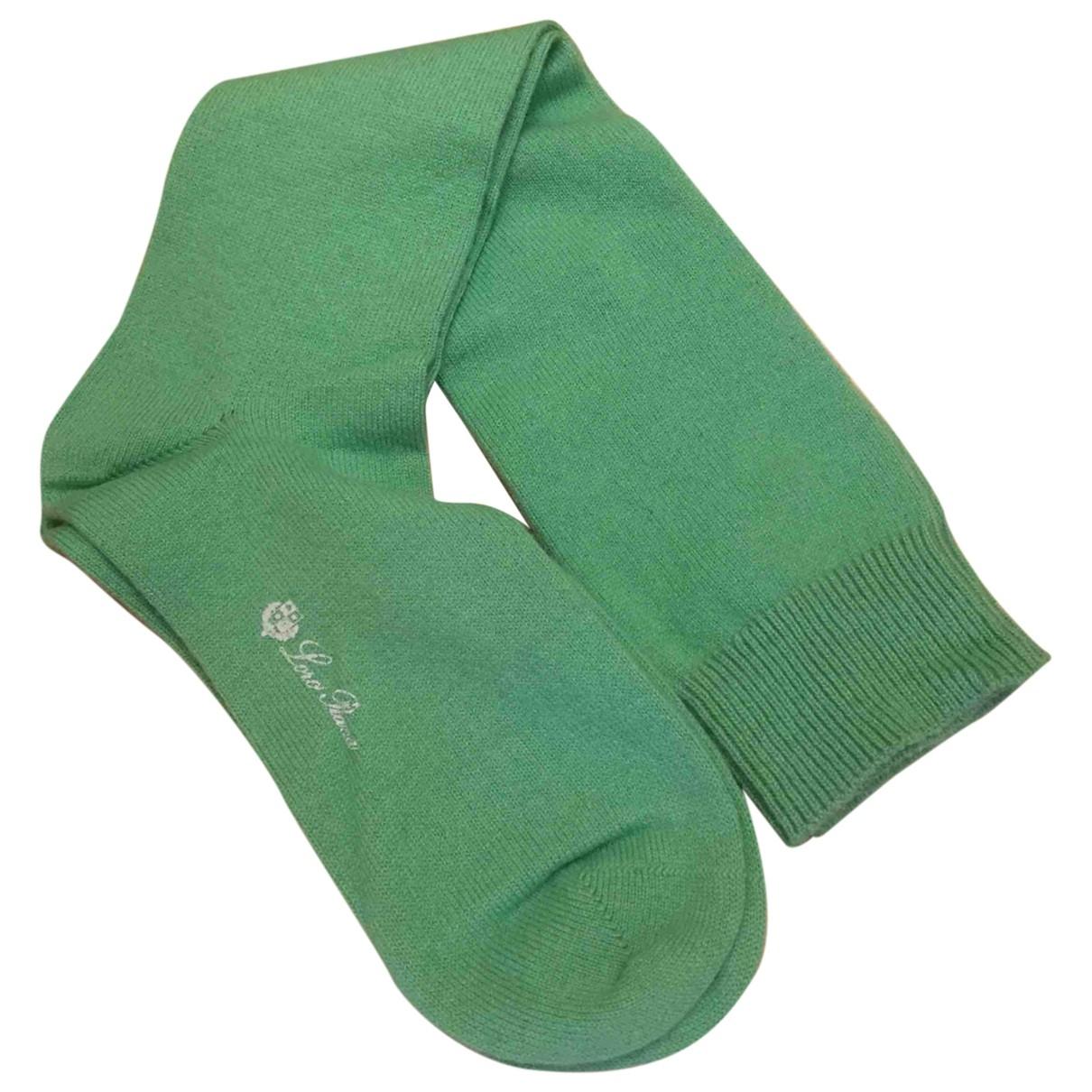 Loro Piana - Gants   pour femme en cachemire - vert