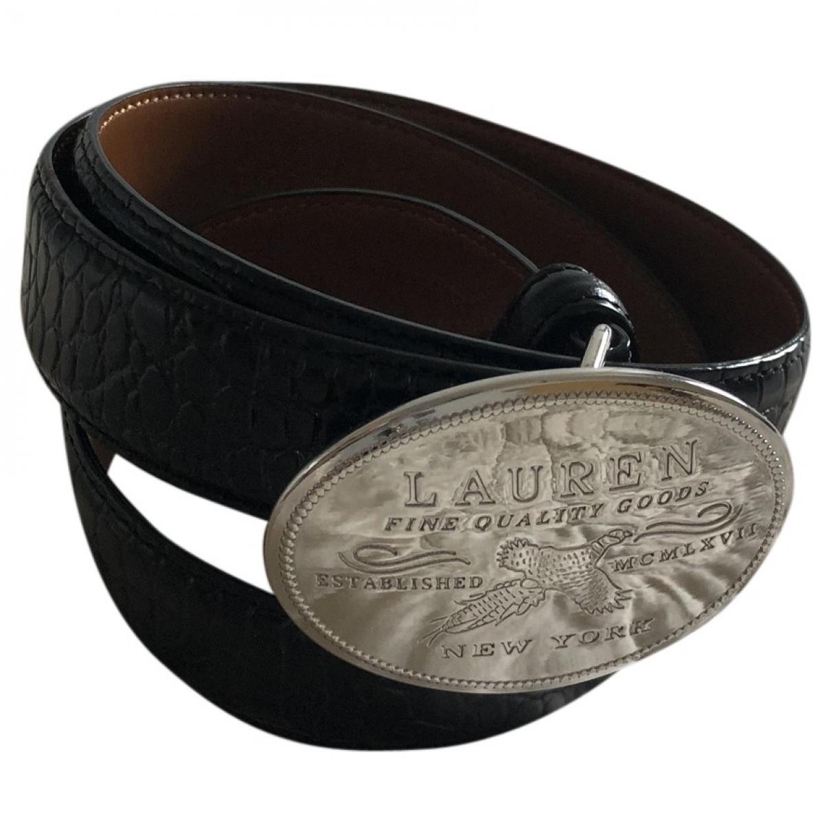 Lauren Ralph Lauren \N Black Leather belt for Women XS International