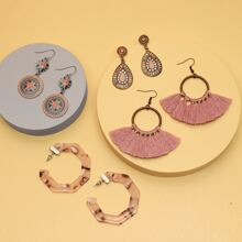 4 Paare Ohrringe mit Quasten