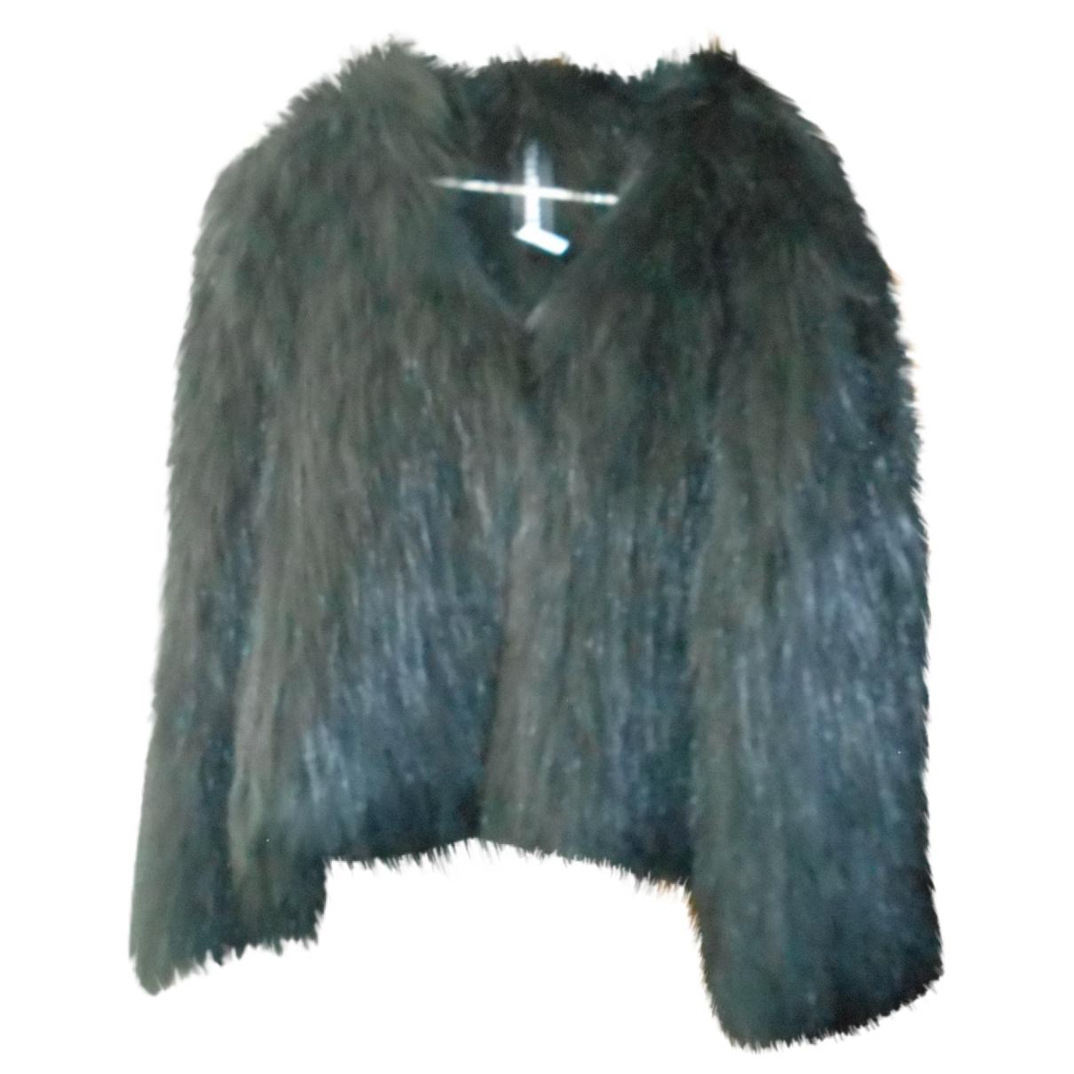 Zadig & Voltaire - Manteau   pour femme en fourrure - noir