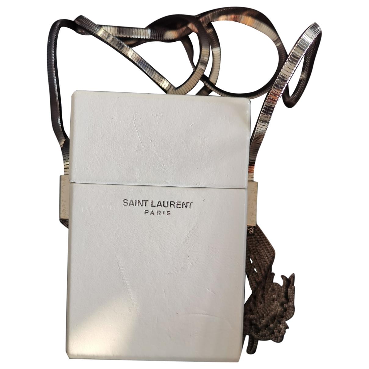 Saint Laurent \N Clutch in  Weiss Leder
