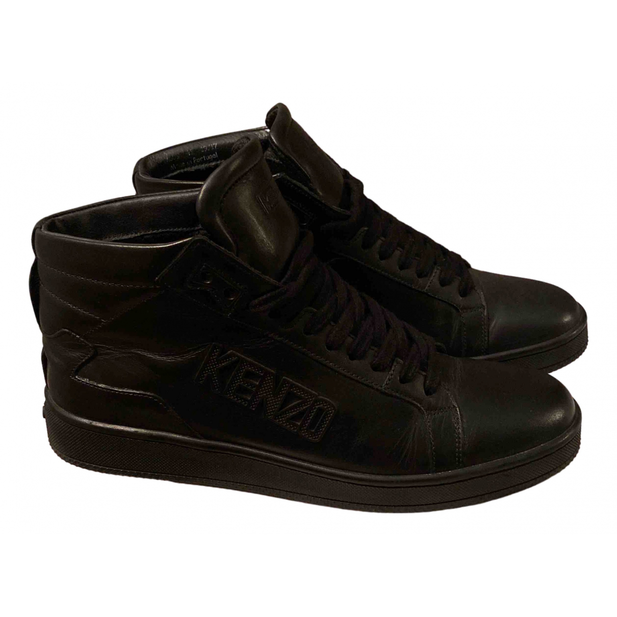 Kenzo - Baskets   pour homme en cuir - noir