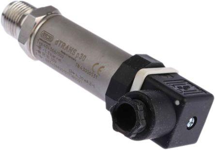 Jumo Pressure Sensor for Fluid, Gas , 3bar Max Pressure Reading