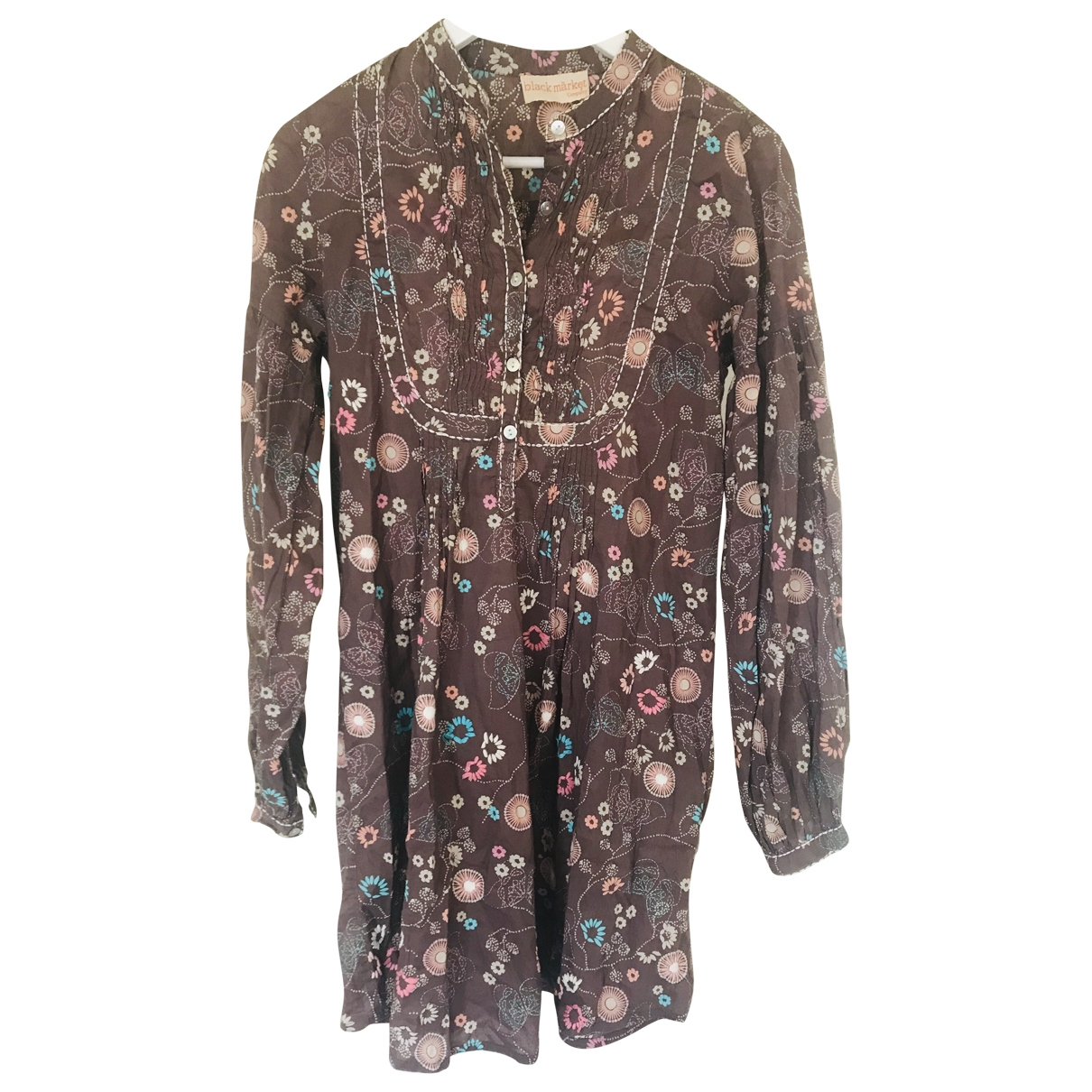 Non Signé / Unsigned \N Brown Cotton dress for Women S International