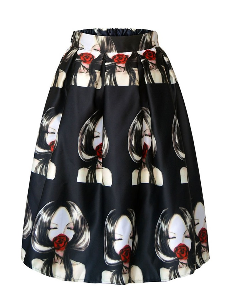 Ericdress A-Line Cartoon Print Fashion Skirt