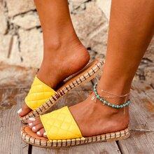 Sandalias guateadas de punta abierta
