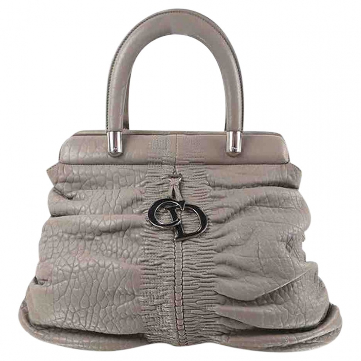 Dior N Grey Leather handbag for Women N