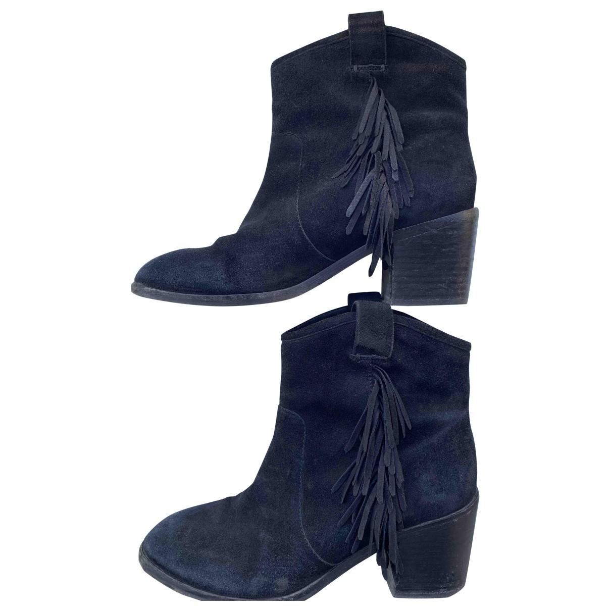 & Other Stories - Boots   pour femme en suede - noir