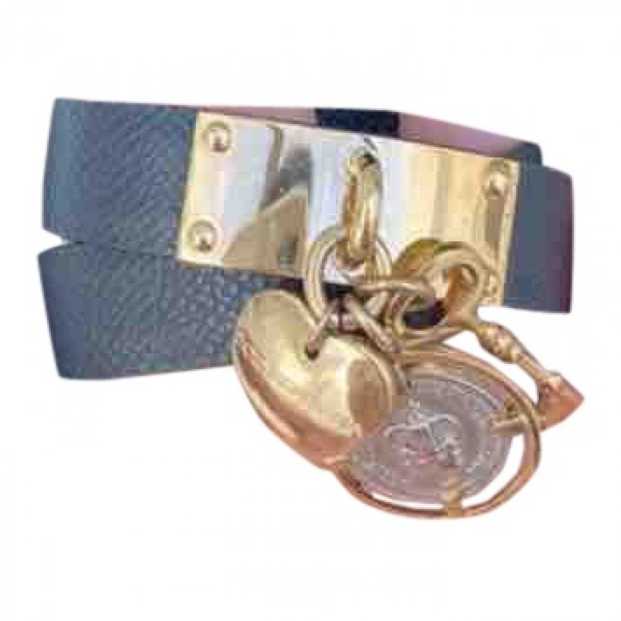 Dolce & Gabbana \N Armband in  Schwarz Leder