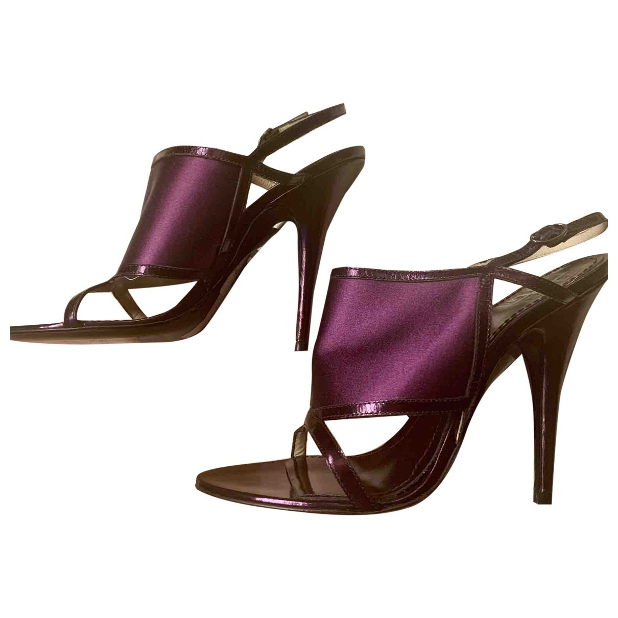 Givenchy \N Purple Cloth Sandals for Women 37 EU