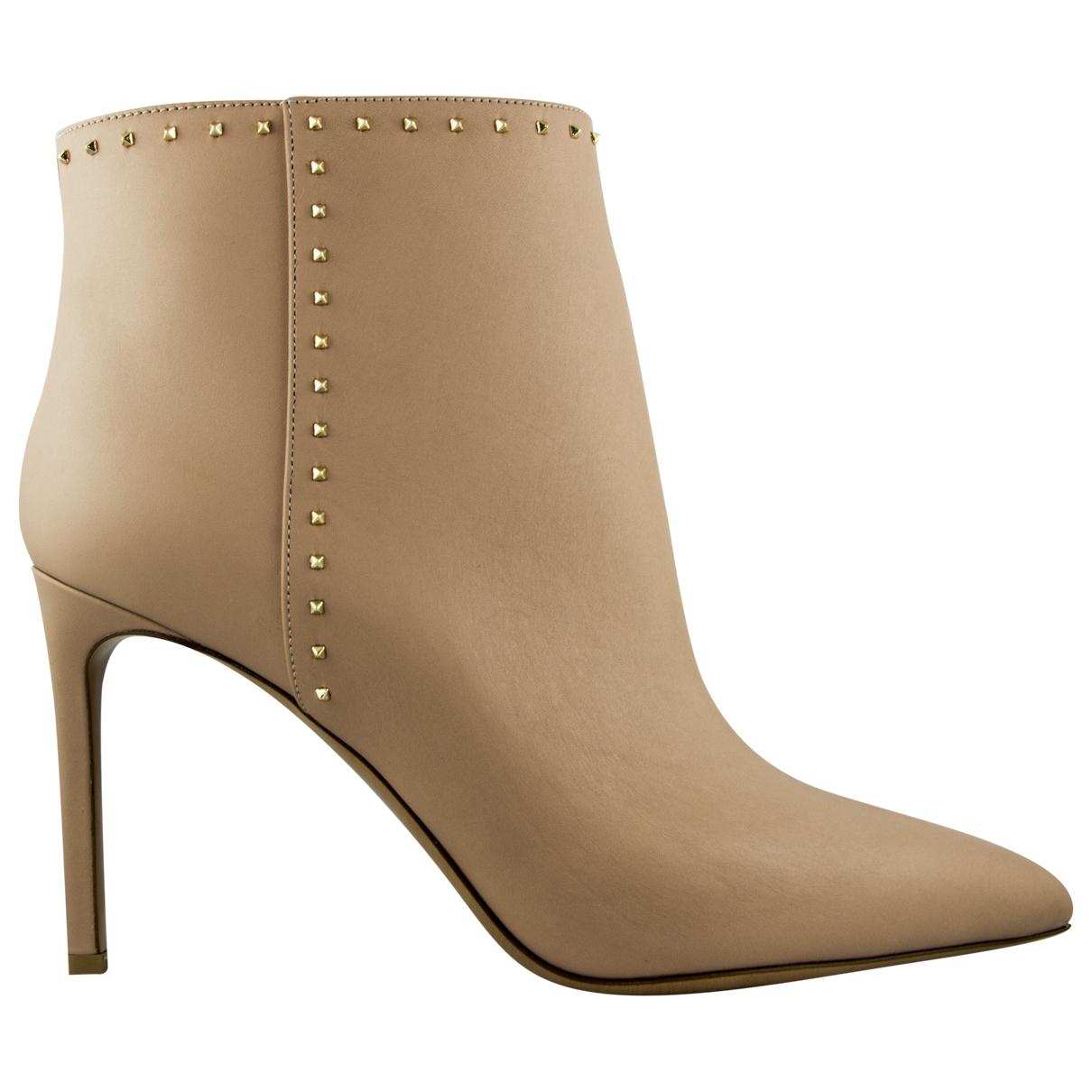 Valentino Garavani Rockstud Leather Ankle boots for Women 40 EU