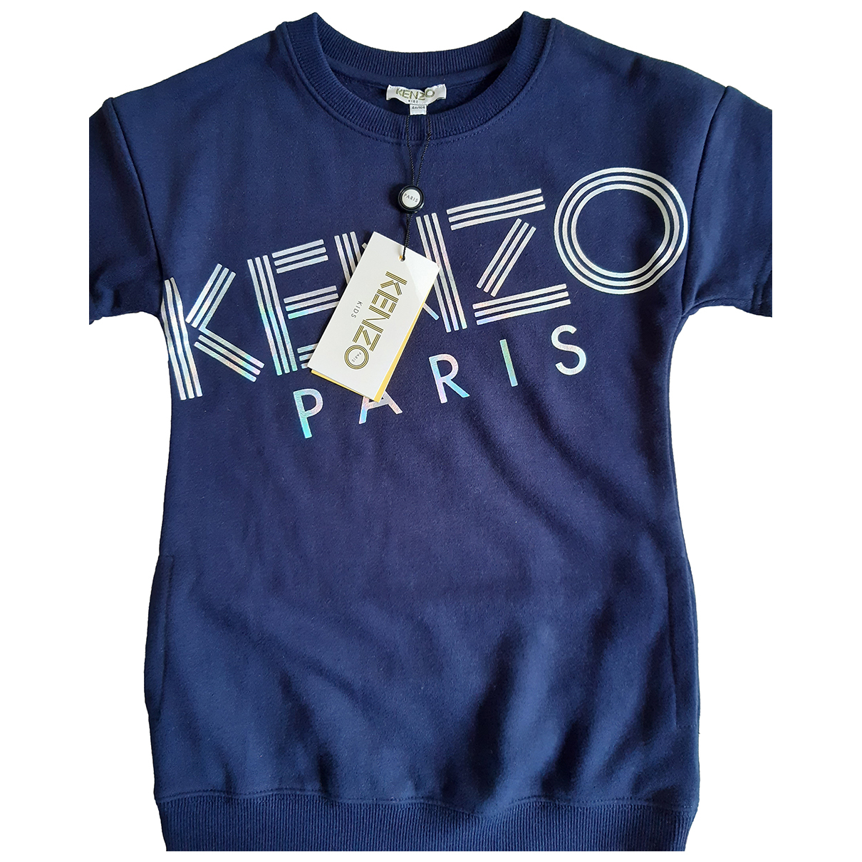Kenzo N Blue Cotton dress for Kids 4 years - up to 102cm FR