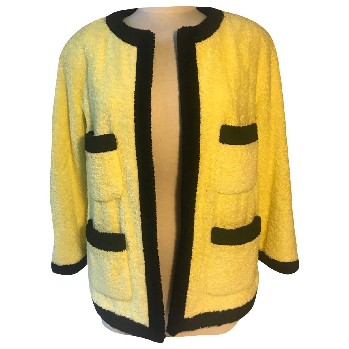 Chanel - Veste   pour femme en coton - jaune