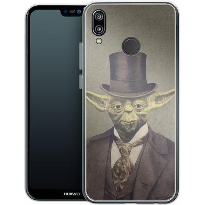 Huawei P20 Lite Silikon Handyhuelle - Sir Yodington von Terry Fan
