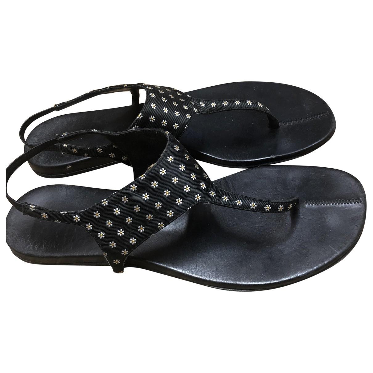 Carritz - Sandales   pour femme en cuir - noir