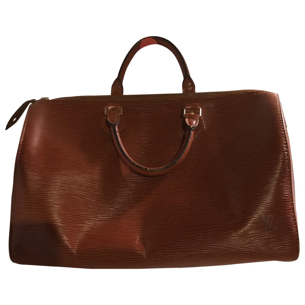 Louis Vuitton - Sac a main Speedy pour femme en cuir - camel