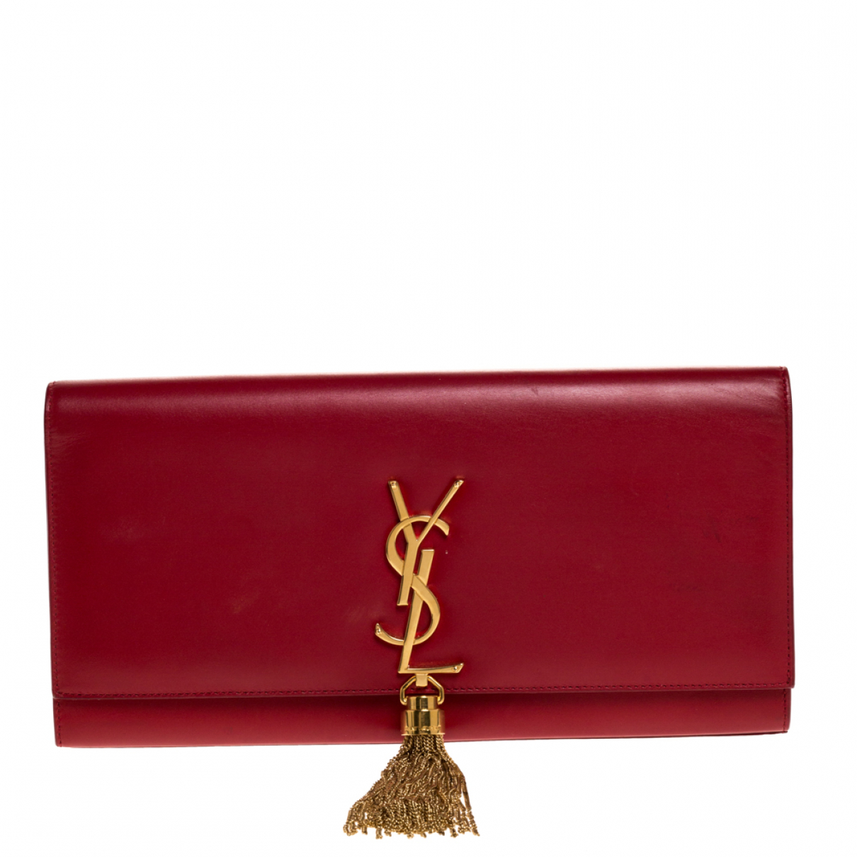 Saint Laurent \N Clutch in  Rot Leder