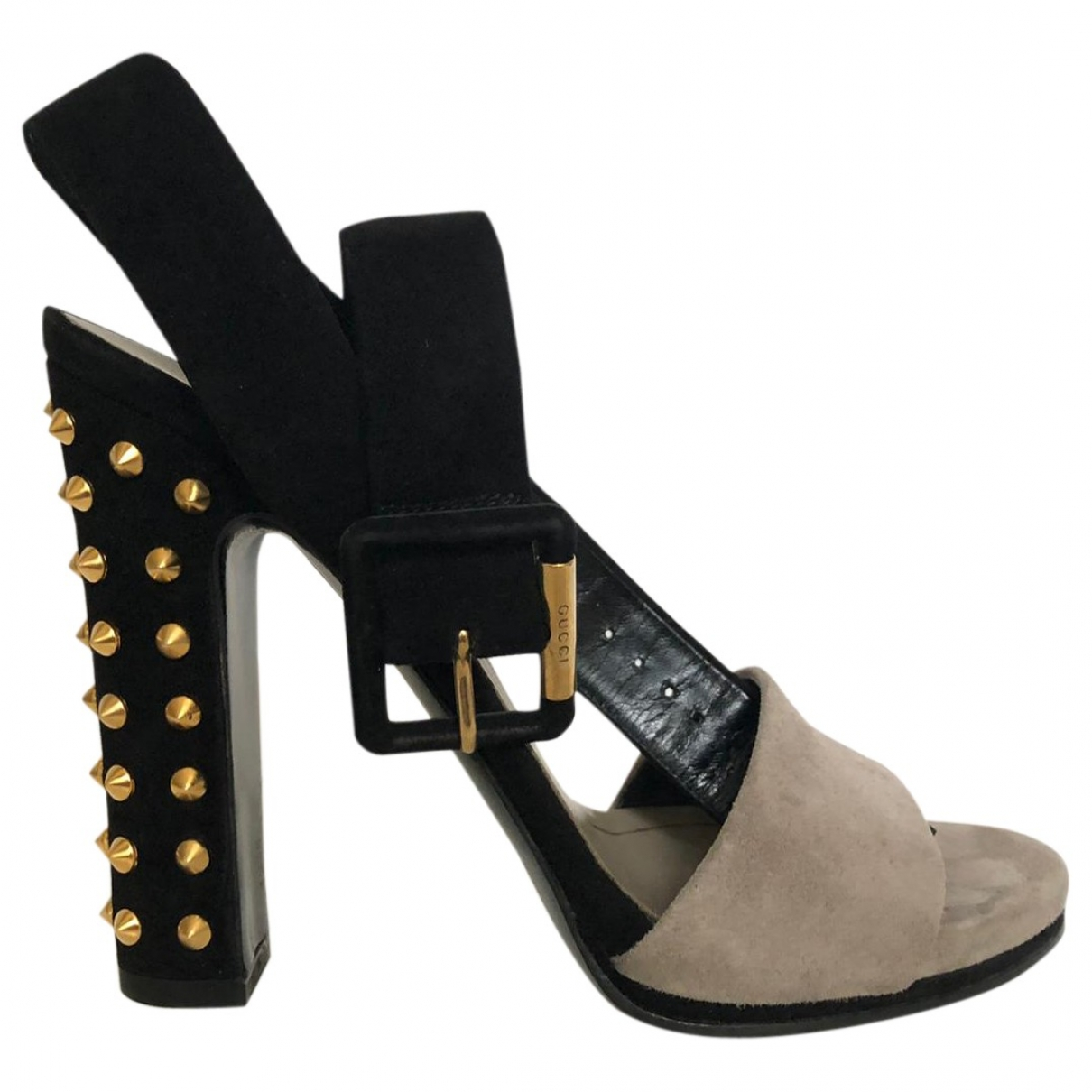 Gucci \N Anthracite Suede Sandals for Women 36.5 IT
