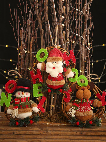 Milanoo Xmas Party Supplies Applique Garland Christmas Costume Decorations