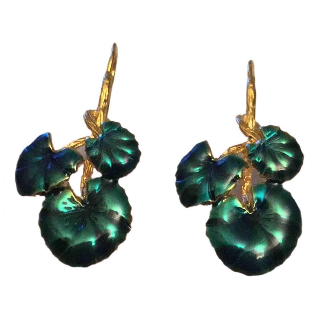 Aurelie Bidermann Nymphéas Blue Gold plated Earrings for Women \N