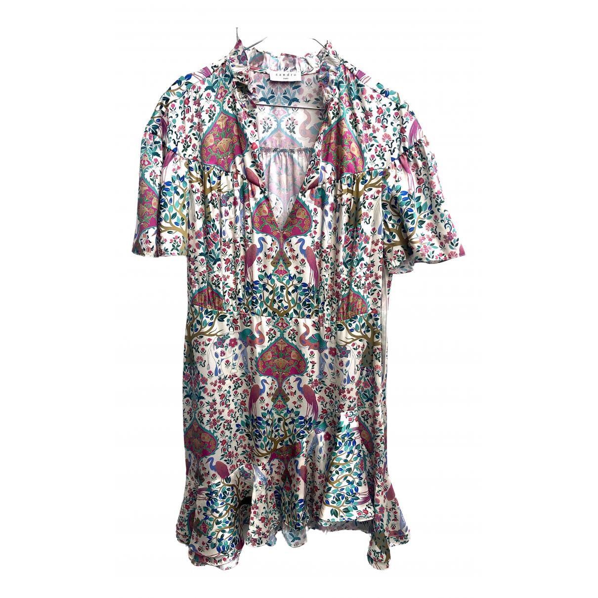 Sandro Spring Summer 2020 Multicolour dress for Women 42 FR