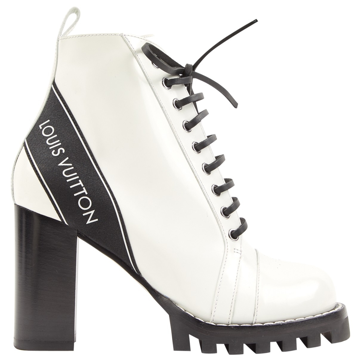 Louis Vuitton \N White Leather Ankle boots for Women 39 EU