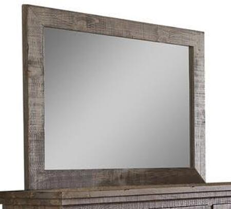 Willow P635-50 Mirror with Distressed Detailing and Pine Veneers in Pine