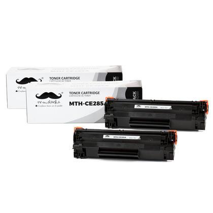Compatible HP 85A CE285A cartouche de toner LaserJet noir de Moustache, 2 paquet
