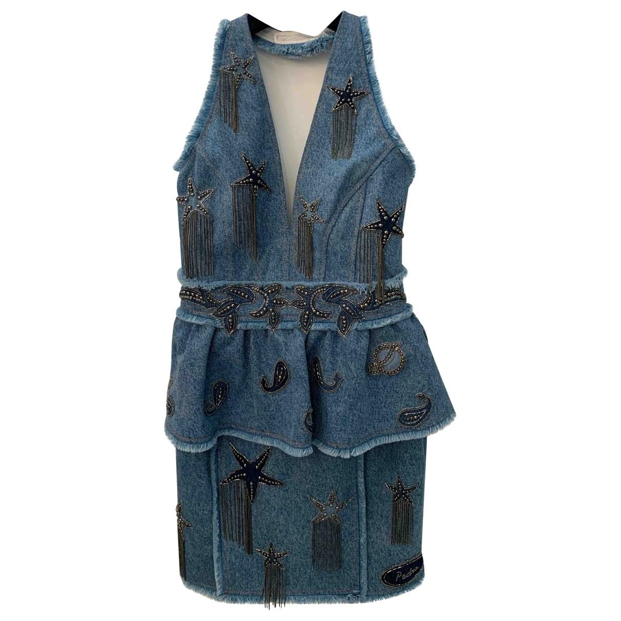 Dundas - Robe   pour femme en coton - bleu