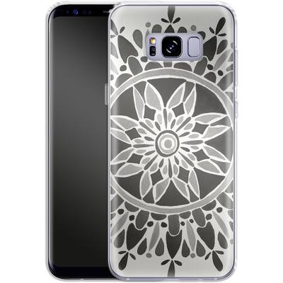 Samsung Galaxy S8 Plus Silikon Handyhuelle - Mandala Black von Cat Coquillette