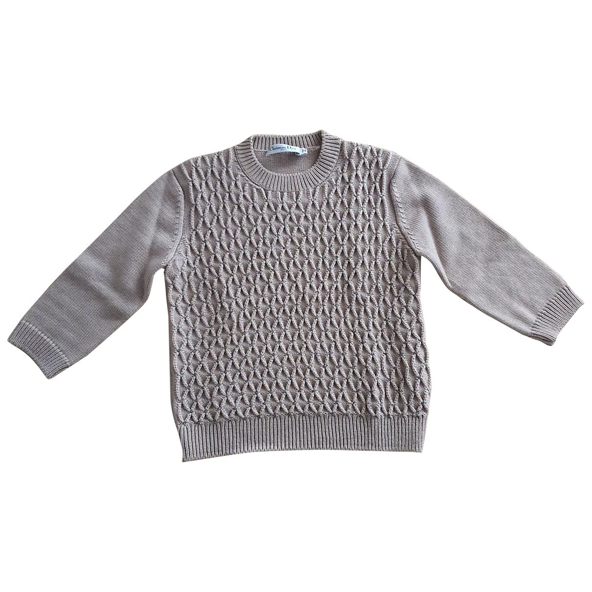 Dior \N Pullover in  Ecru Wolle