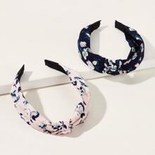2pcs Ditsy Floral Pattern Headband